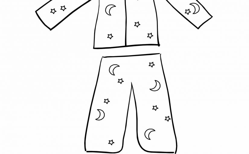 Pajama Coloring Page For Kids
