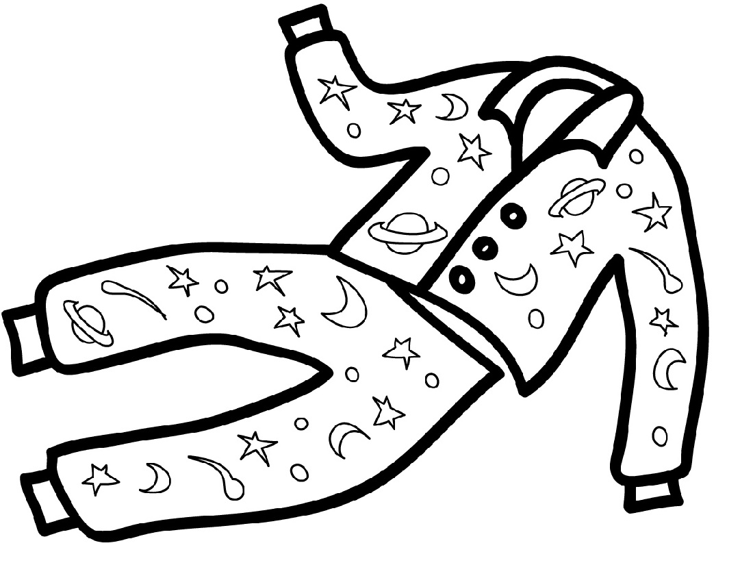 Pajama Coloring Page Printable