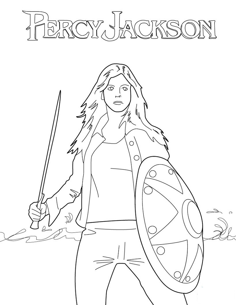 Percy Jackson Coloring Pages Annabeth Chase