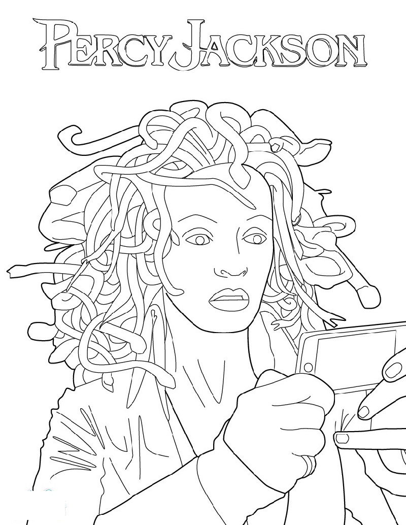 Percy Jackson Coloring Pages Medusa