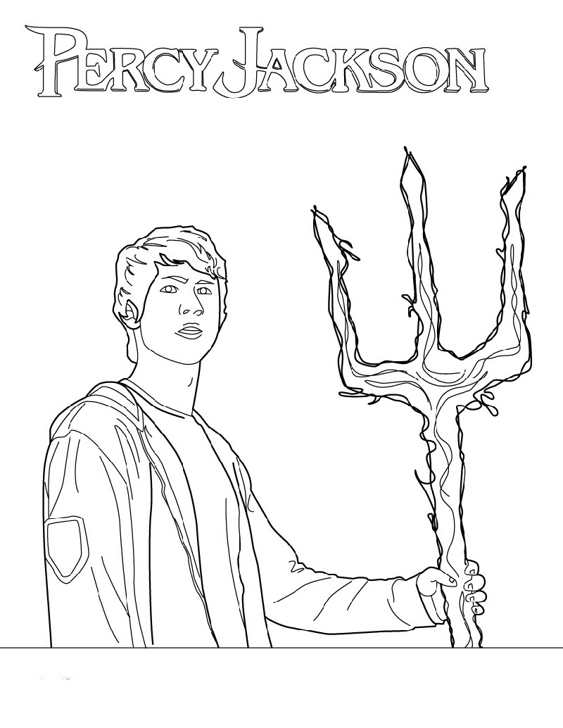 Percy Jackson Coloring Pages Poseidon's Son