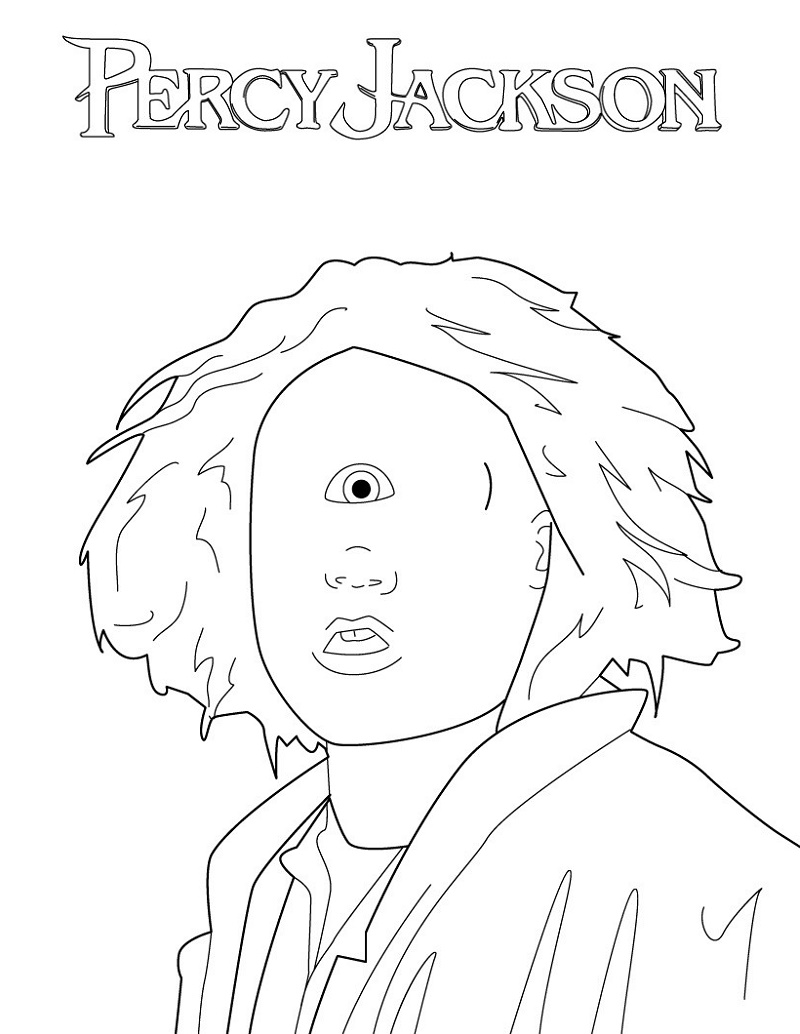 Percy Jackson Coloring Pages Tyson Cyclops' Eye