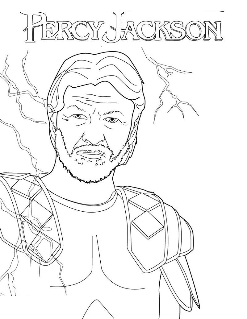 Percy Jackson Coloring Pages Zeus