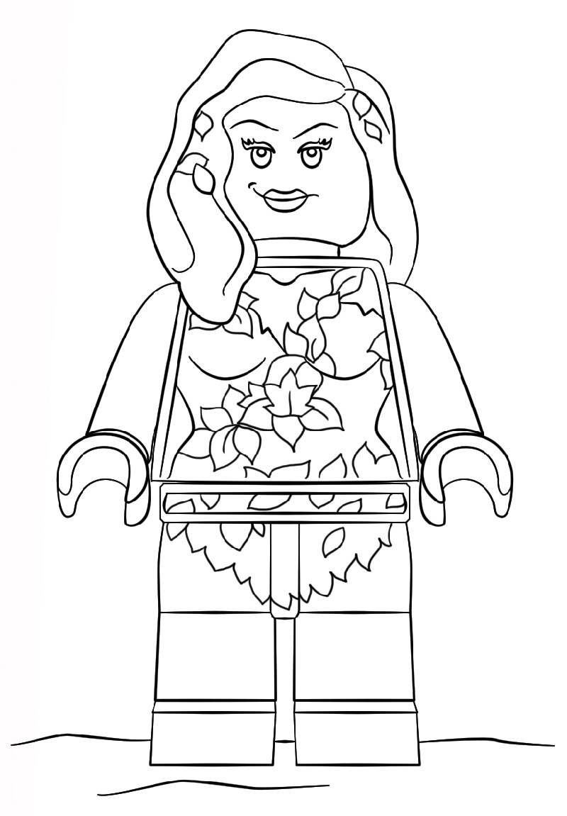 Poison Ivy Coloring Pages Lego