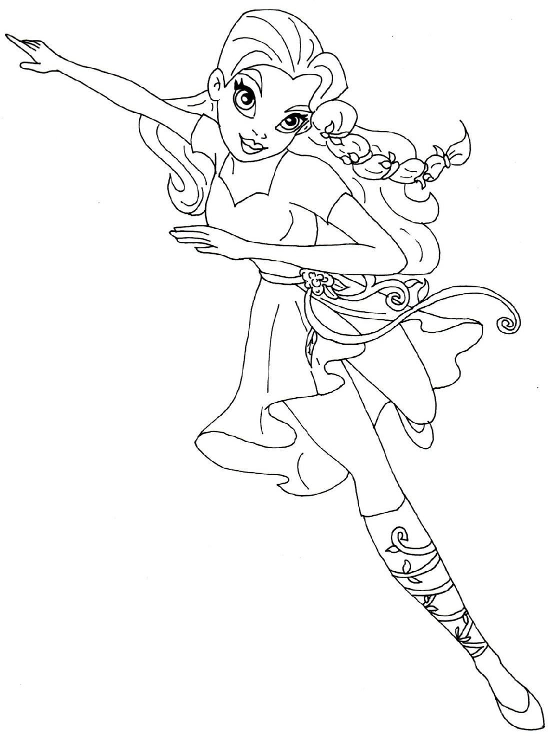 Poison Ivy Coloring Pages Super Hero