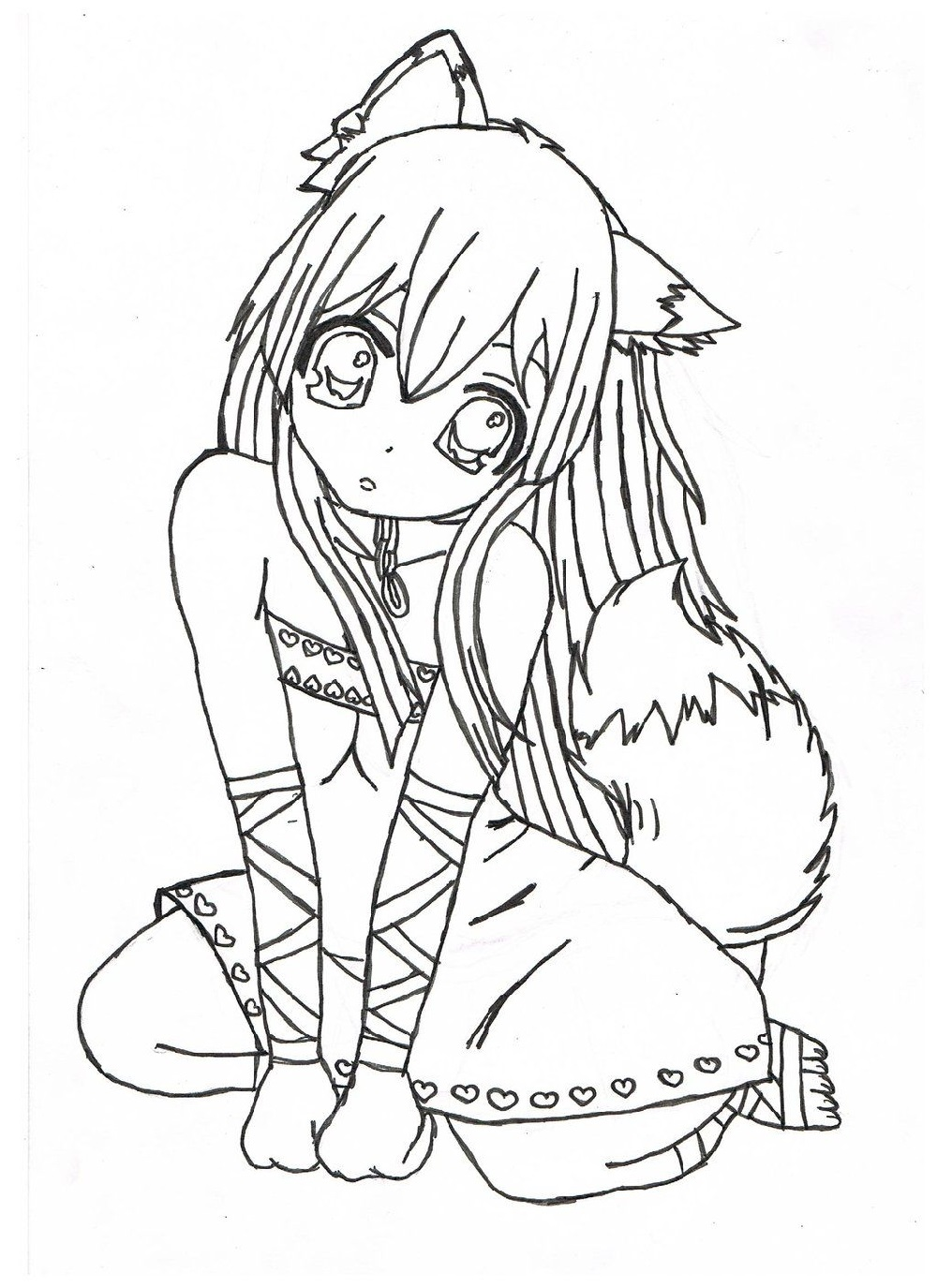 anime coloring sheets 2