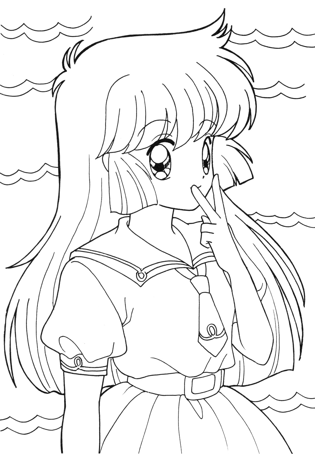 anime coloring sheets 3
