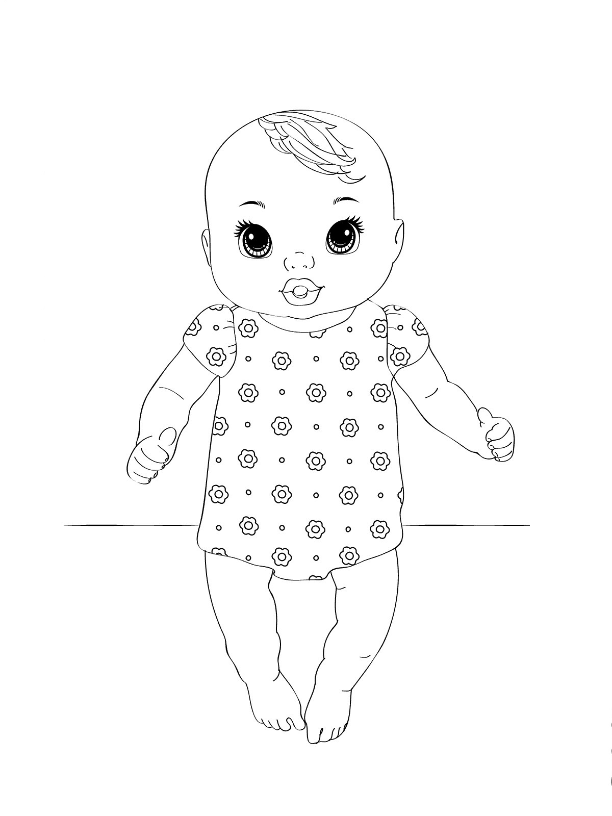 baby alive coloring pages 3