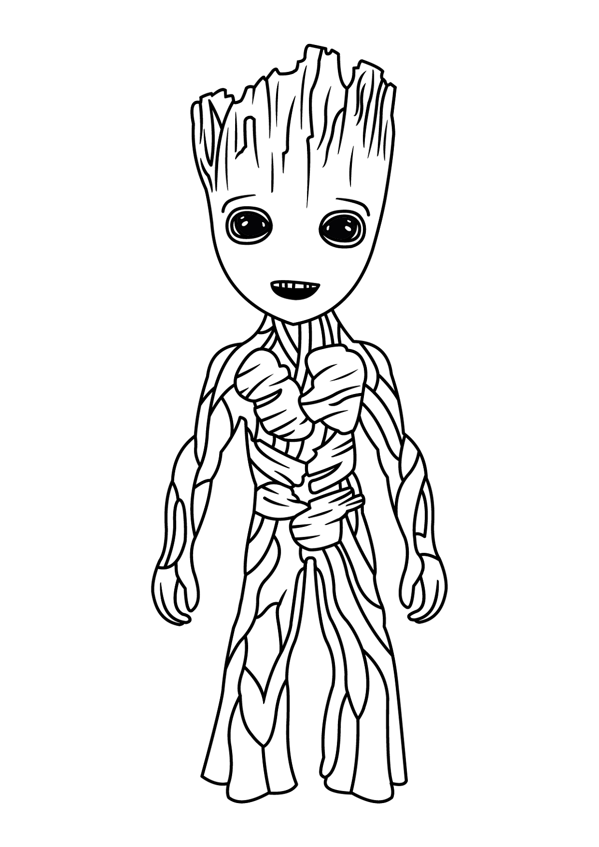 baby groot coloring page 2
