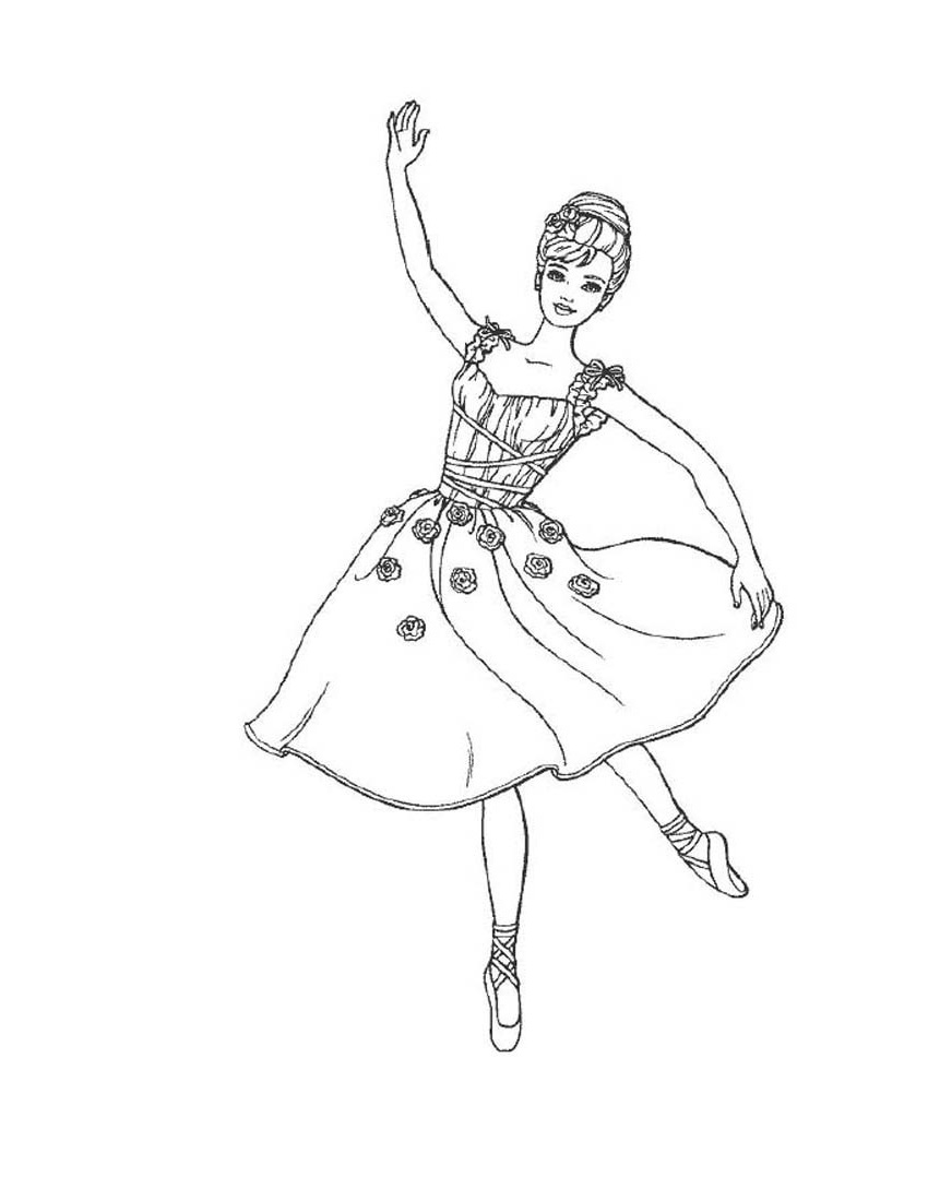 ballerina coloring pages 4