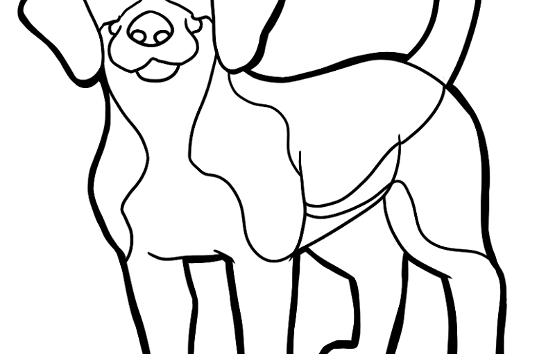 beagle coloring pages 3