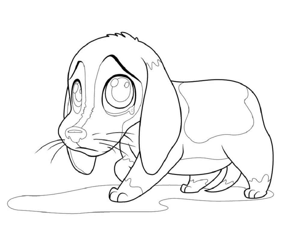 beagle coloring pages 4