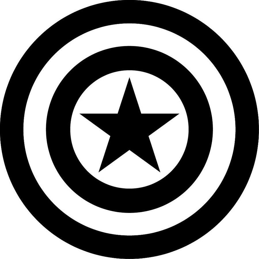 captain america shield coloring page 2