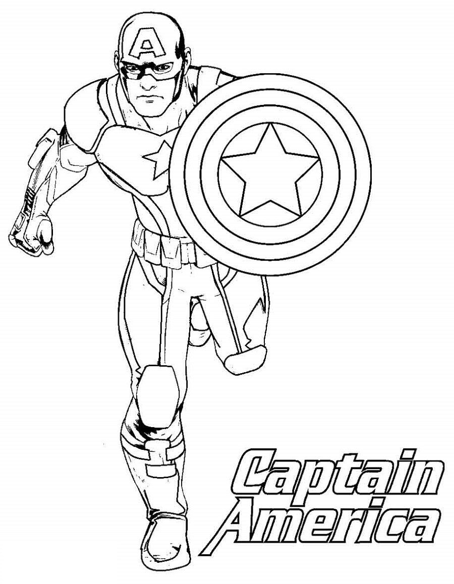 captain america shield coloring page 3