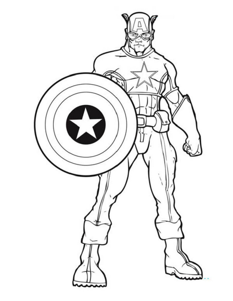 captain america shield coloring page 4