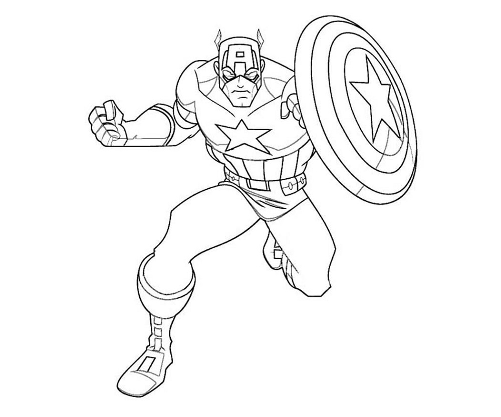 captain america shield coloring page 5