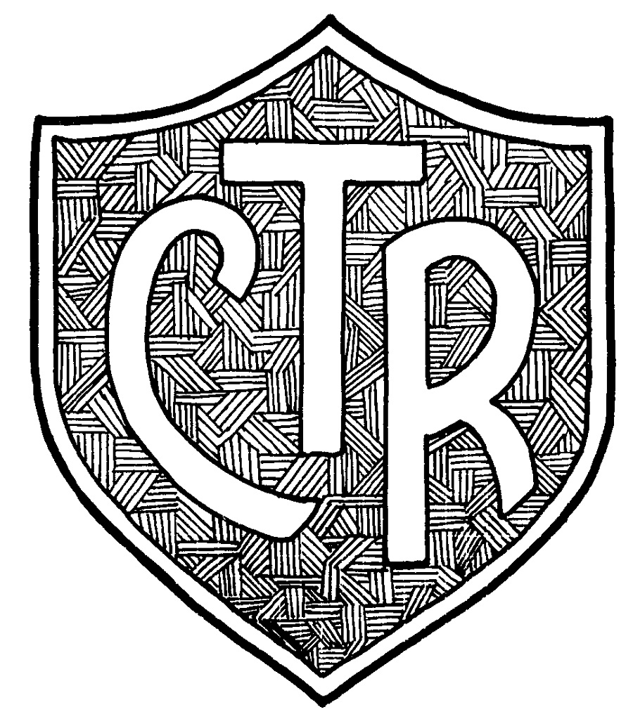 ctr shield coloring page 1