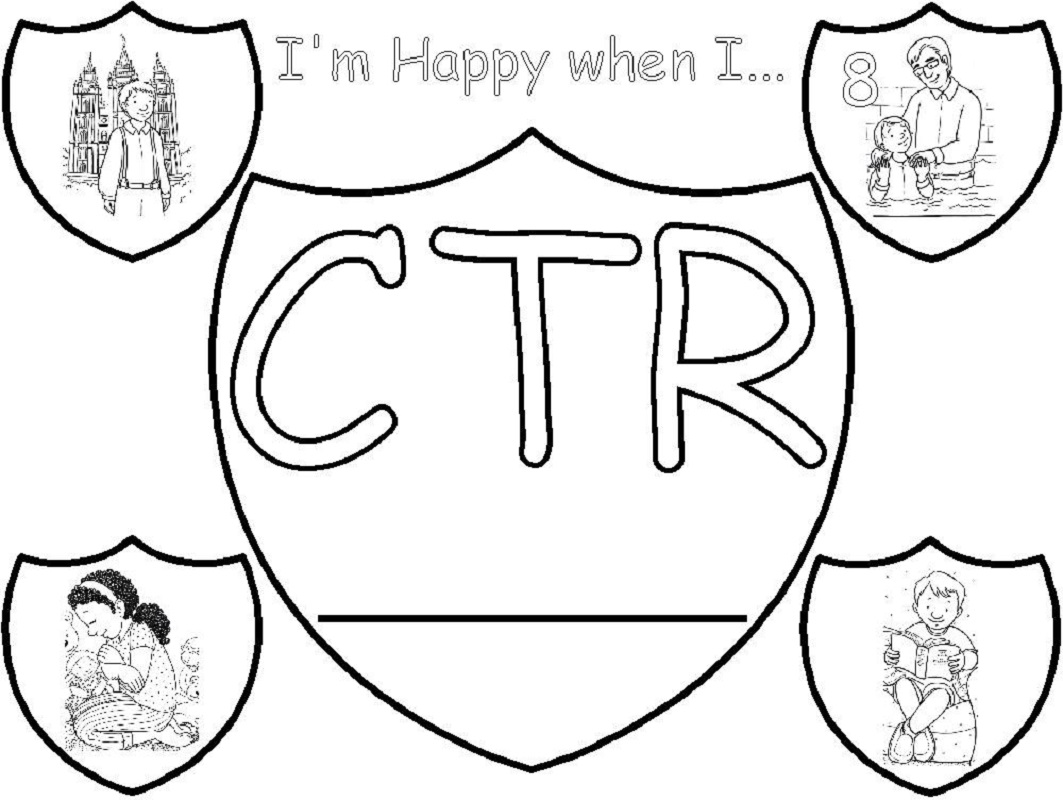 ctr shield coloring page 2