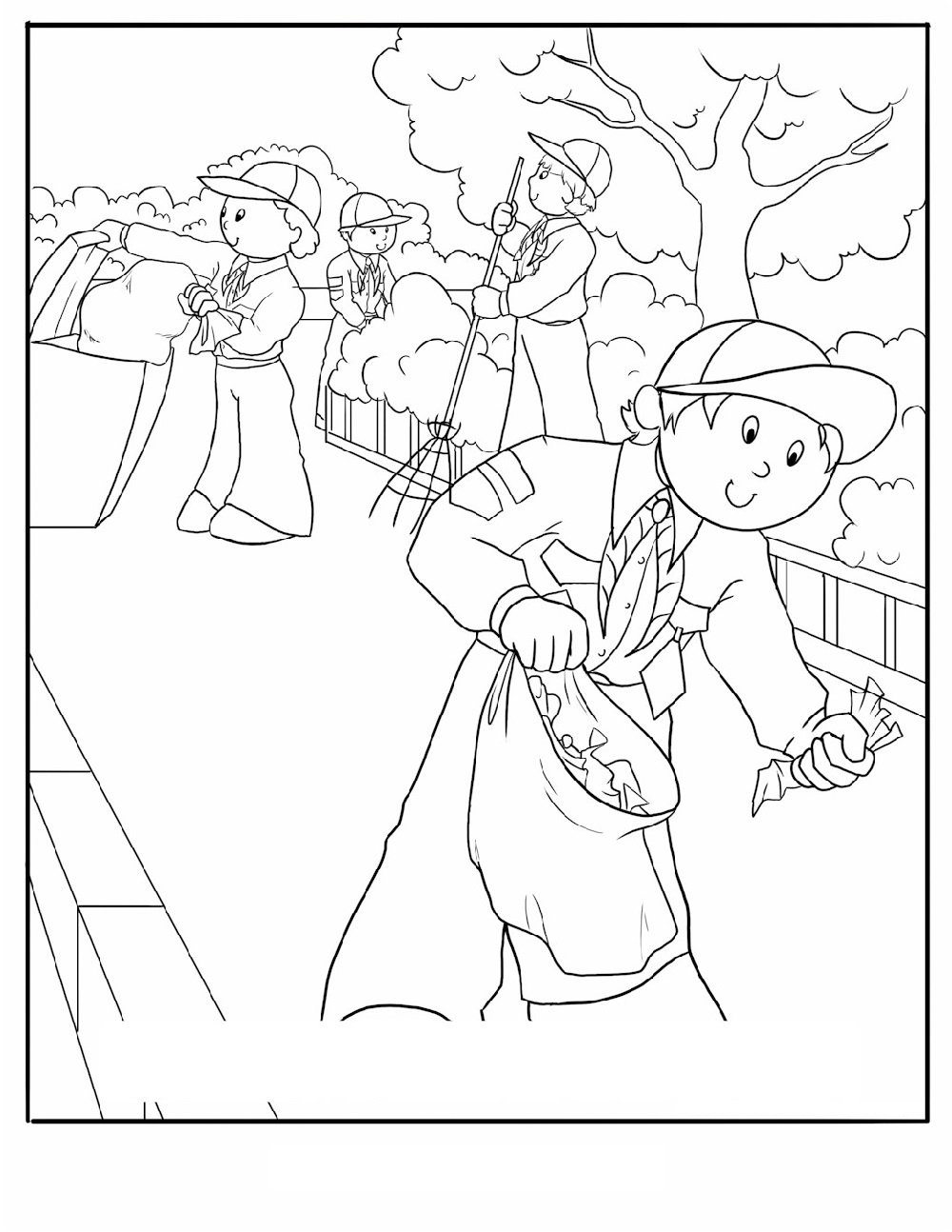 cub scout coloring pages 1