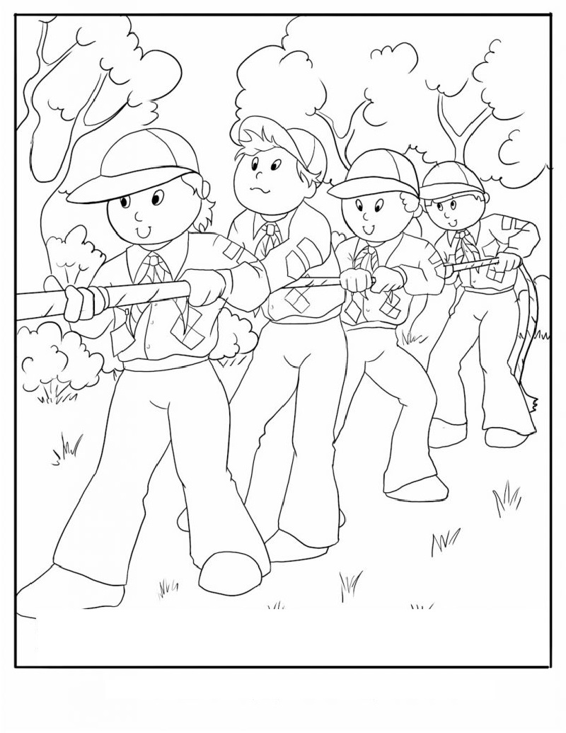 cub scout coloring pages 2