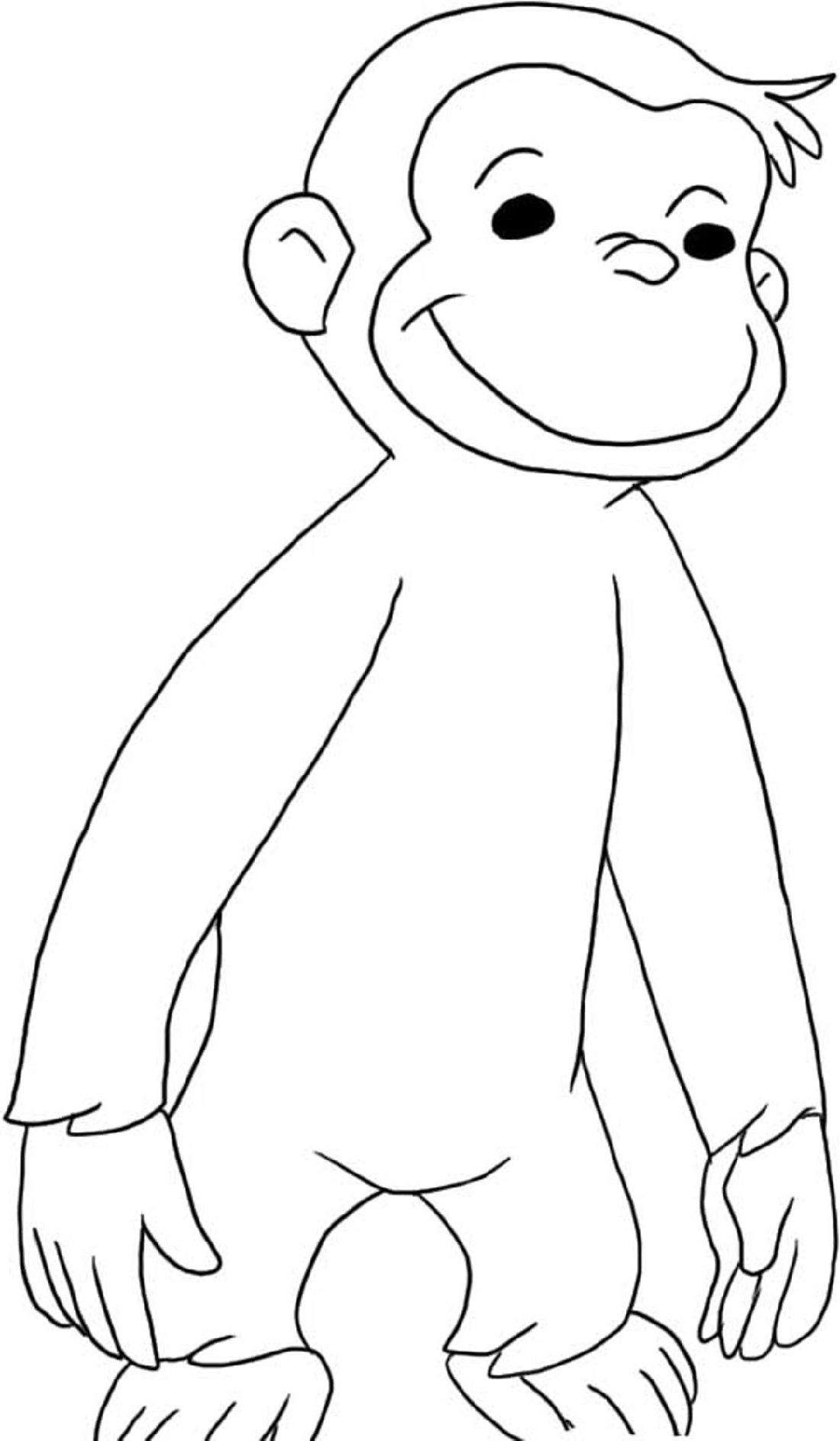 curious george coloring pages 1