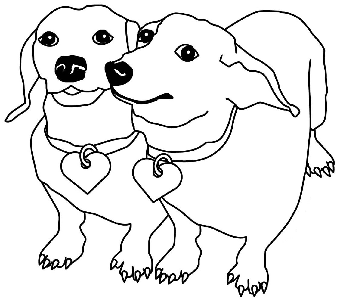 dachshund coloring pages 1