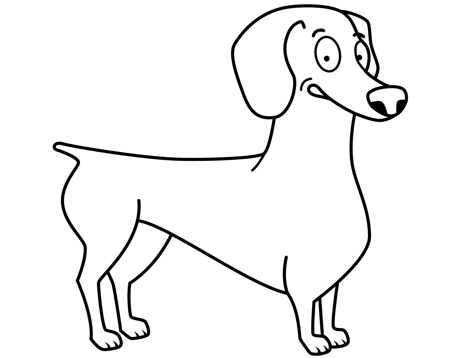 dachshund coloring pages 4