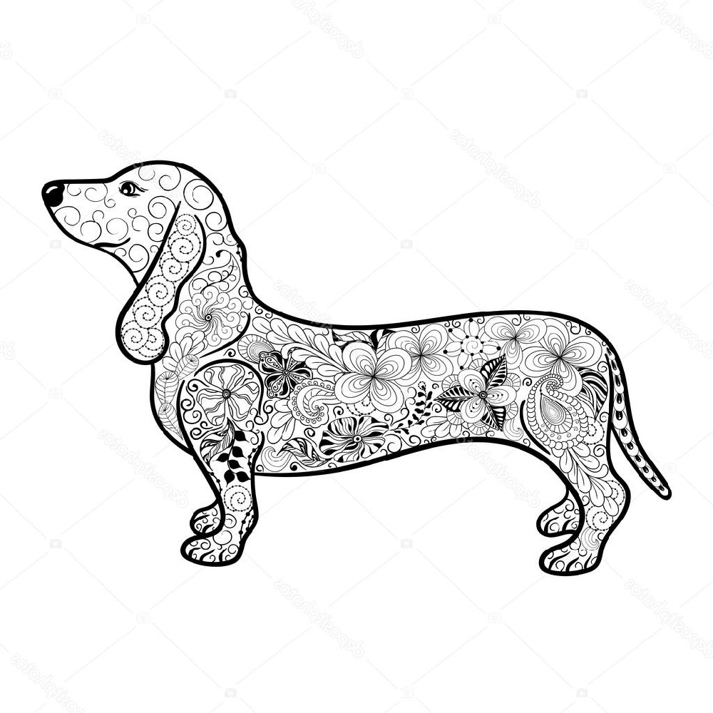 dachshund coloring pages 5