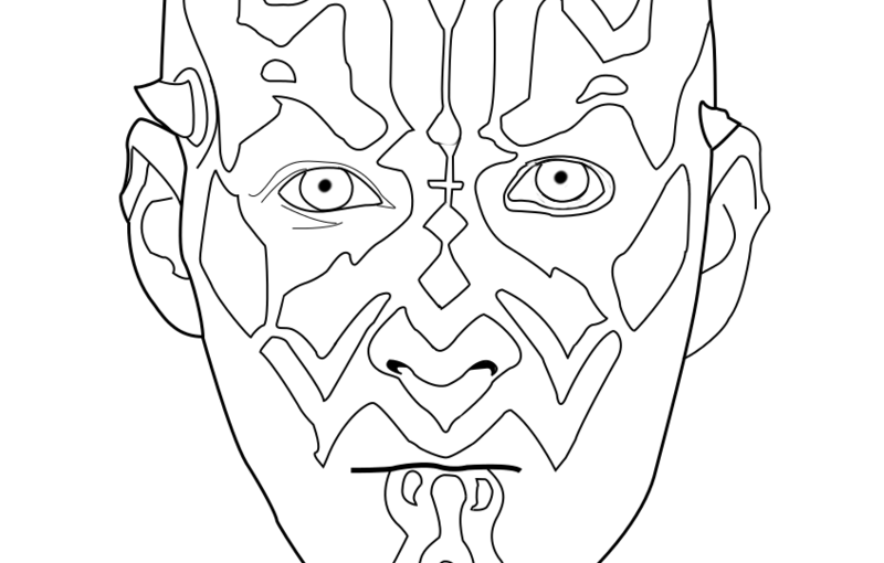 darth maul coloring page 1