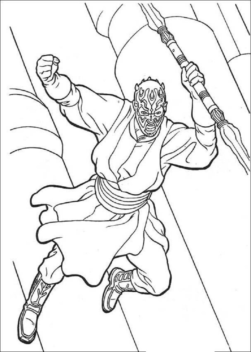 darth maul coloring page 2