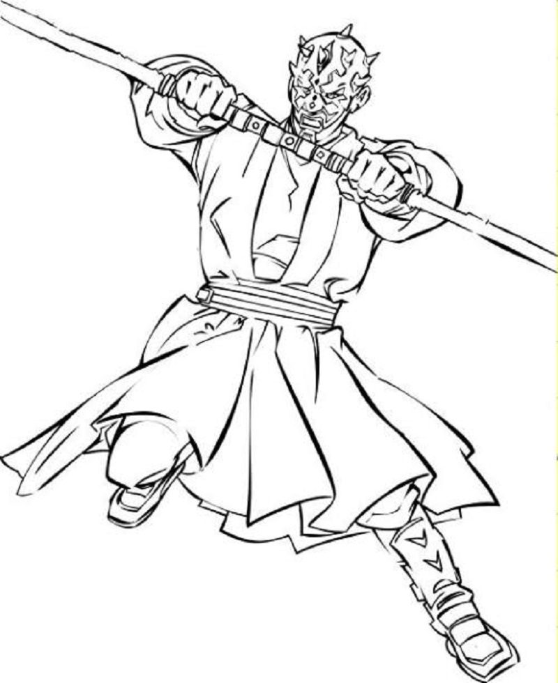 darth maul coloring page 3