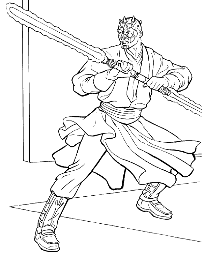 darth maul coloring page 4