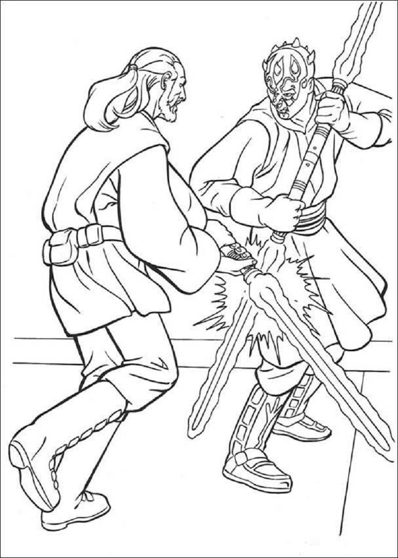 darth maul coloring page 5
