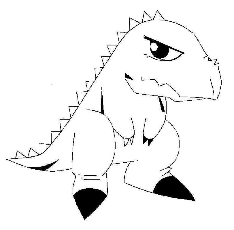 dinosaur king coloring pages 4