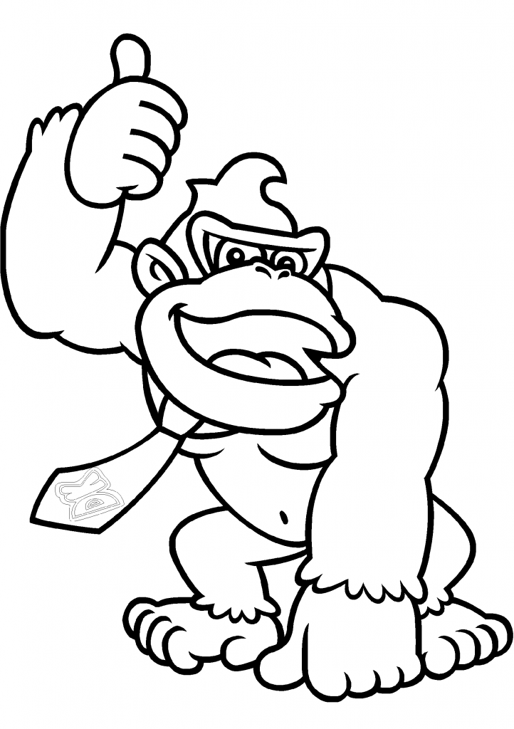 donkey kong coloring pages 1