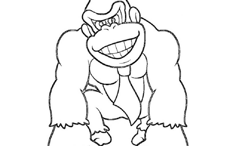 donkey kong coloring pages 3