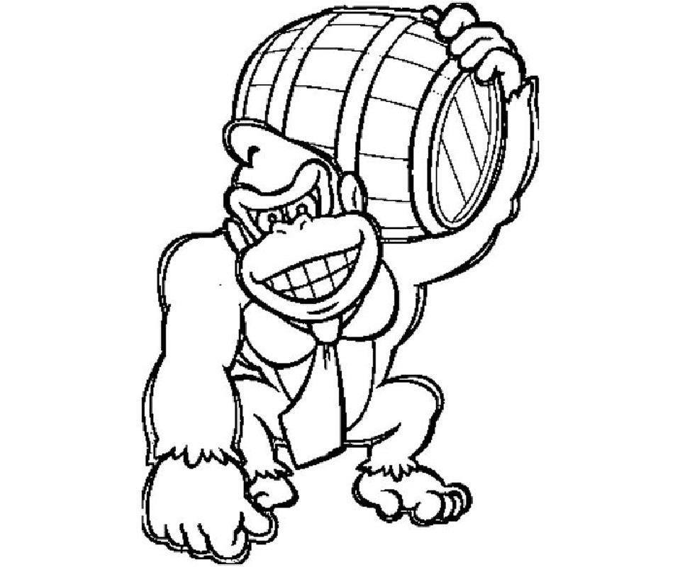 donkey kong coloring pages 5