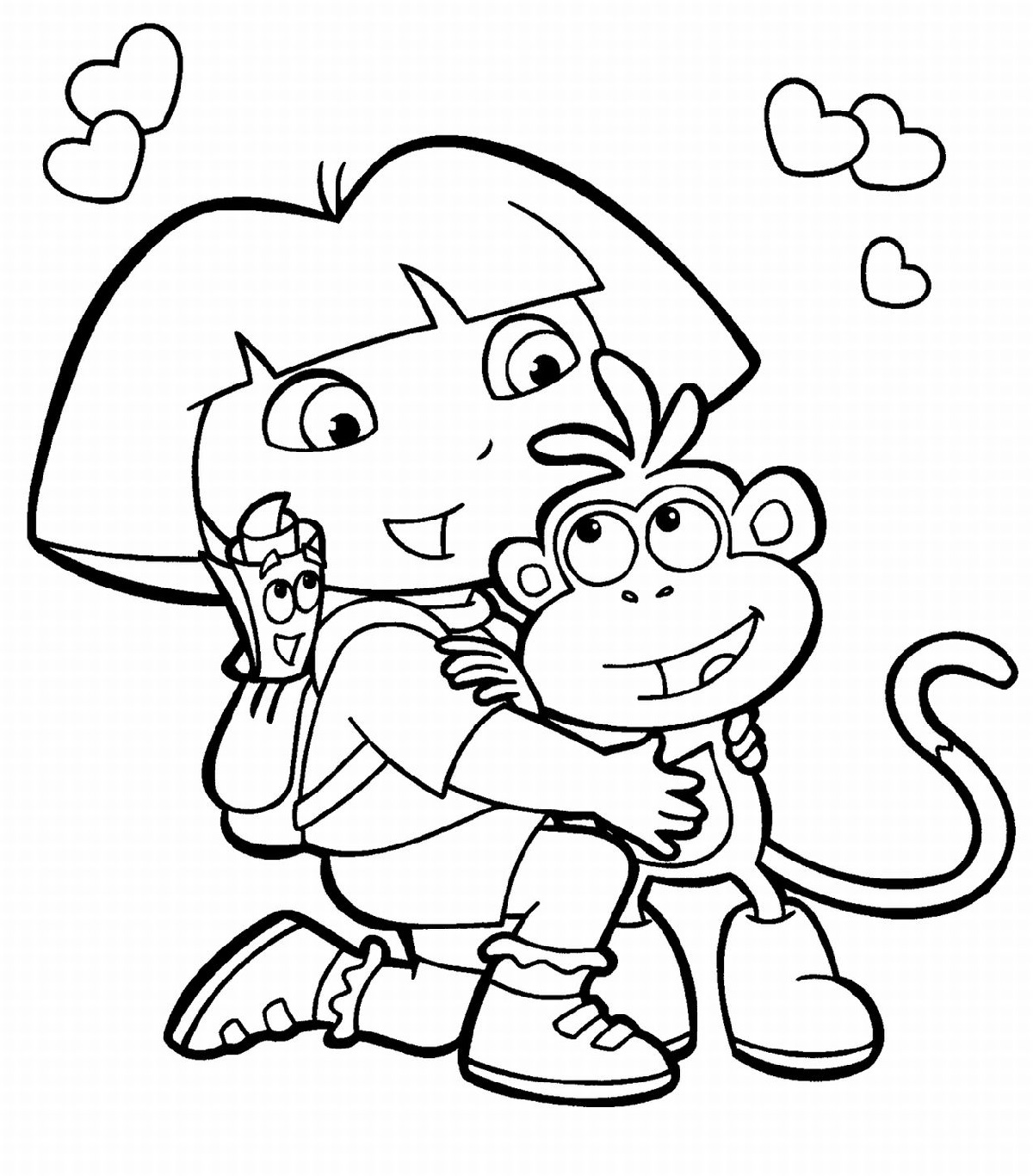 dora coloring pages dora and boots