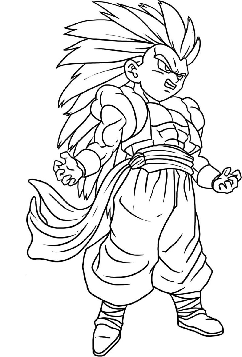 dragon ball z coloring sheets 2