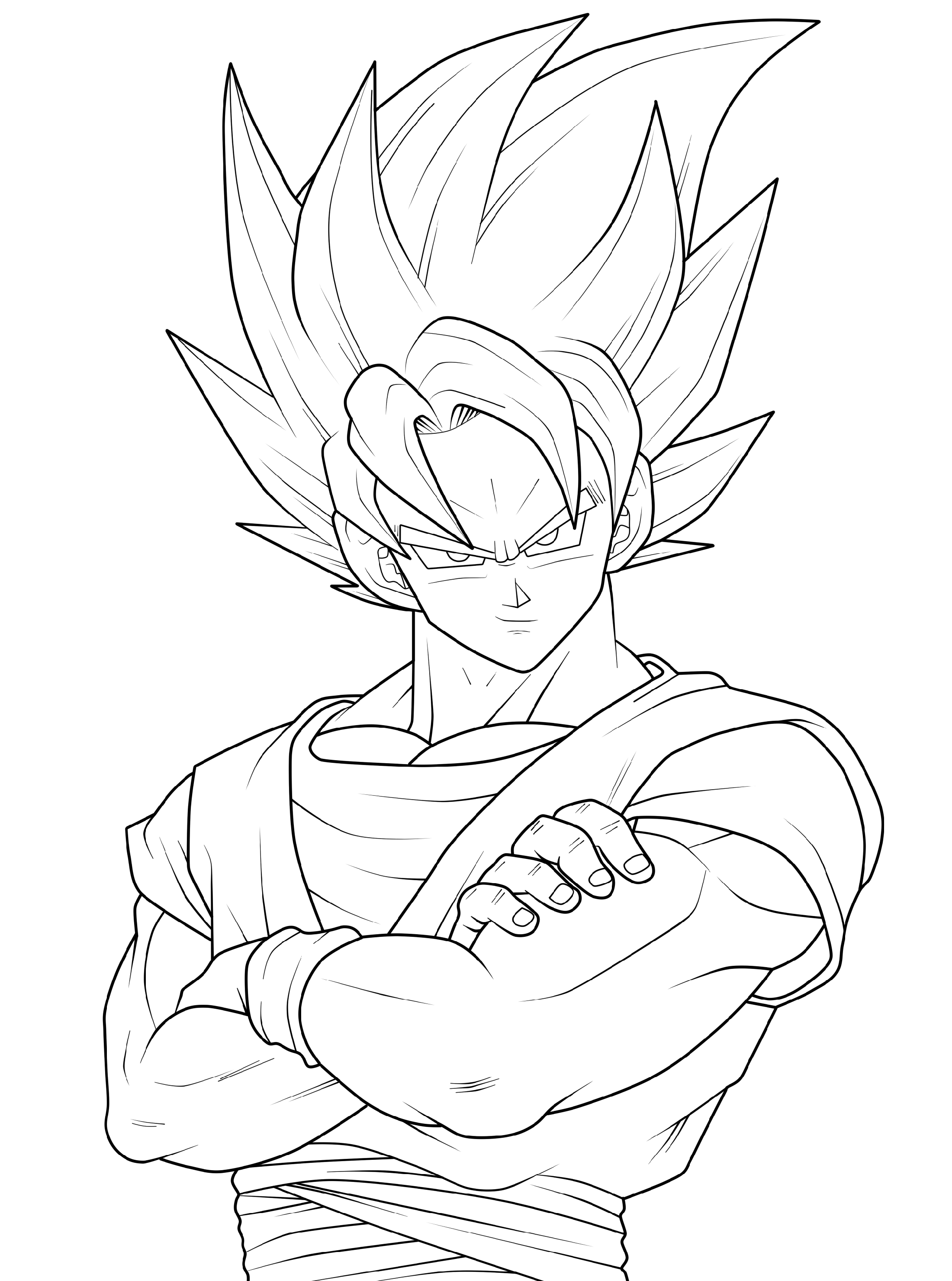 dragon ball z coloring sheets 3