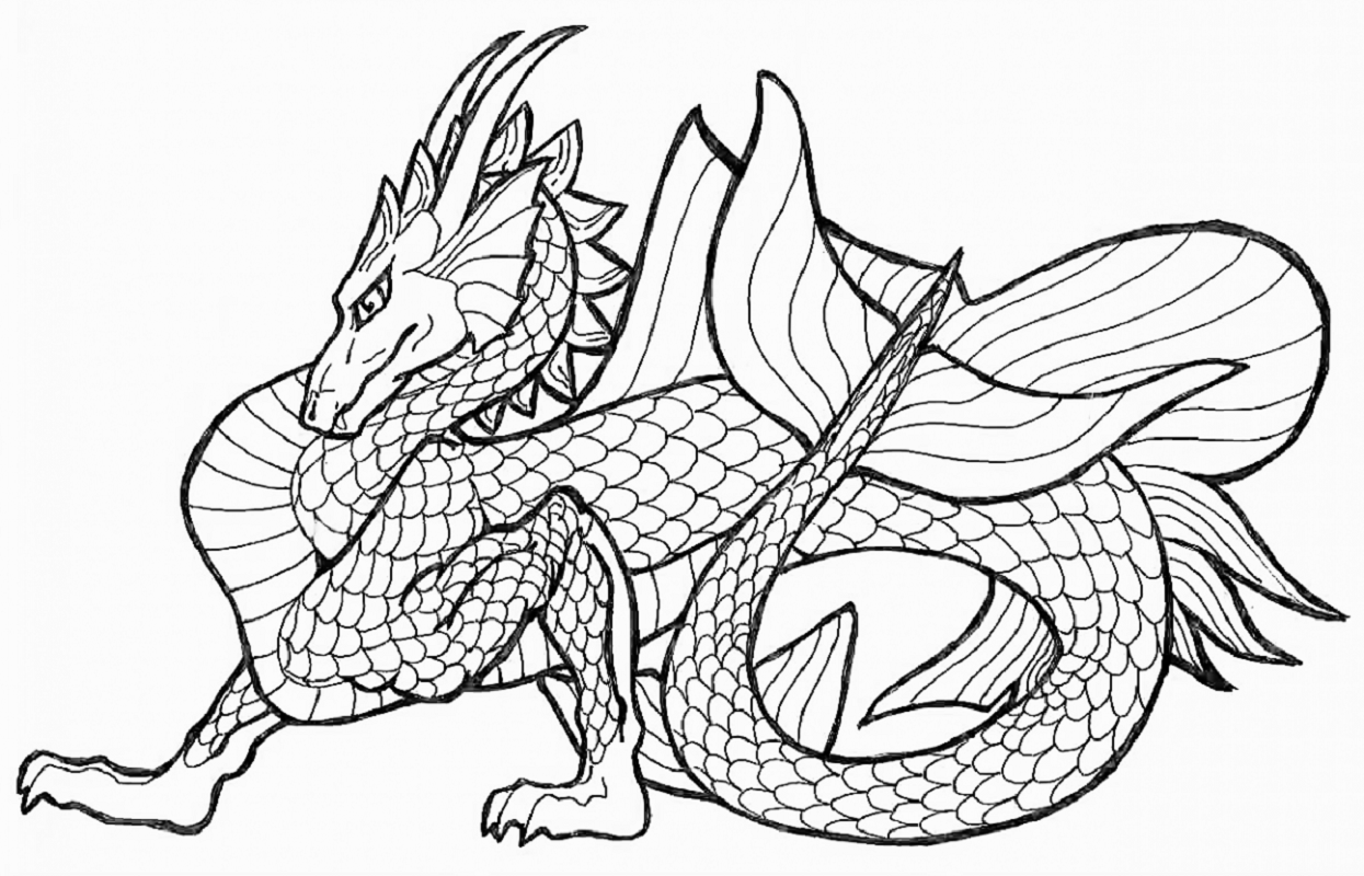 dragon coloring pages 1
