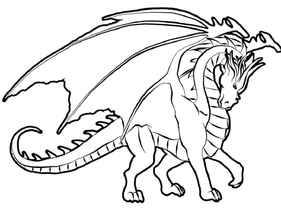 dragon coloring pages 4