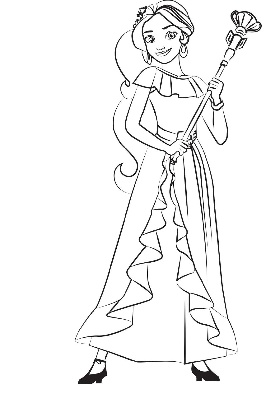 elena of avalor coloring pages 4