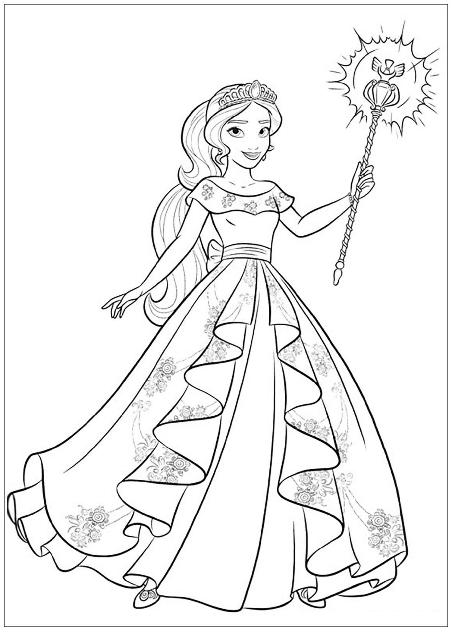 elena of avalor coloring pages 5