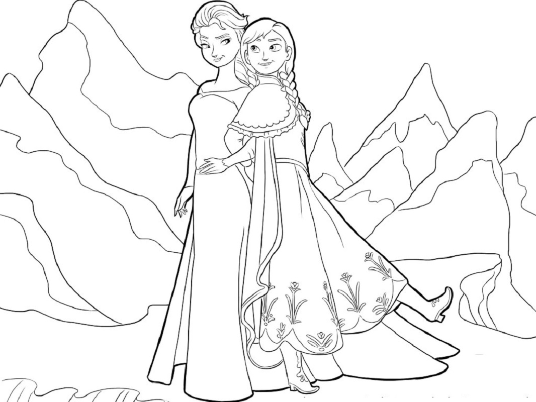 elsa and anna coloring pages 4