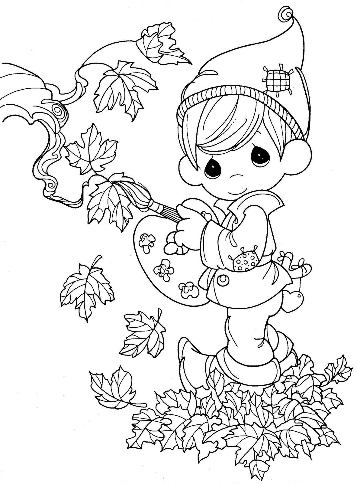 fall coloring sheets 2
