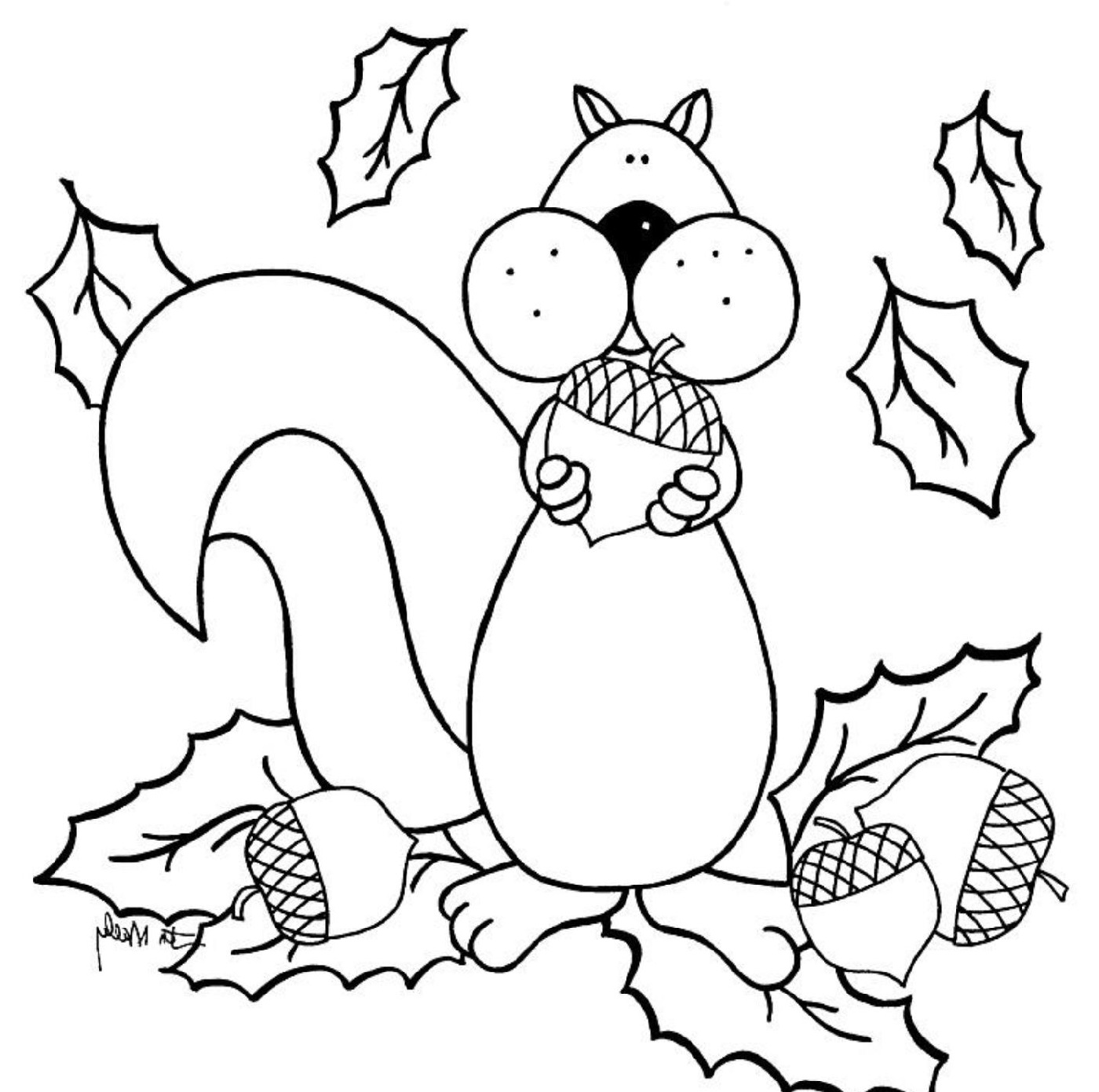 fall coloring sheets 3