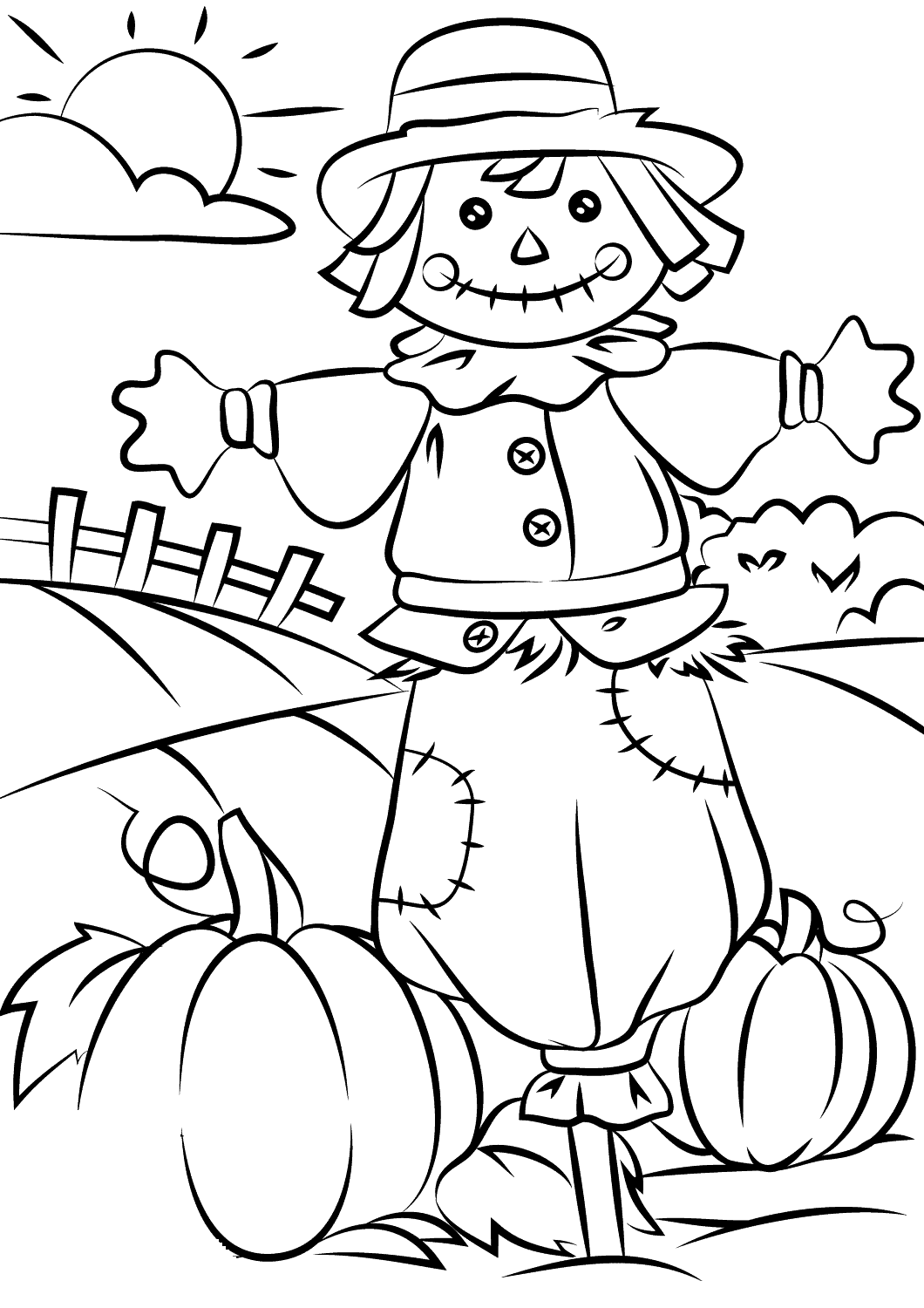 fall coloring sheets 4