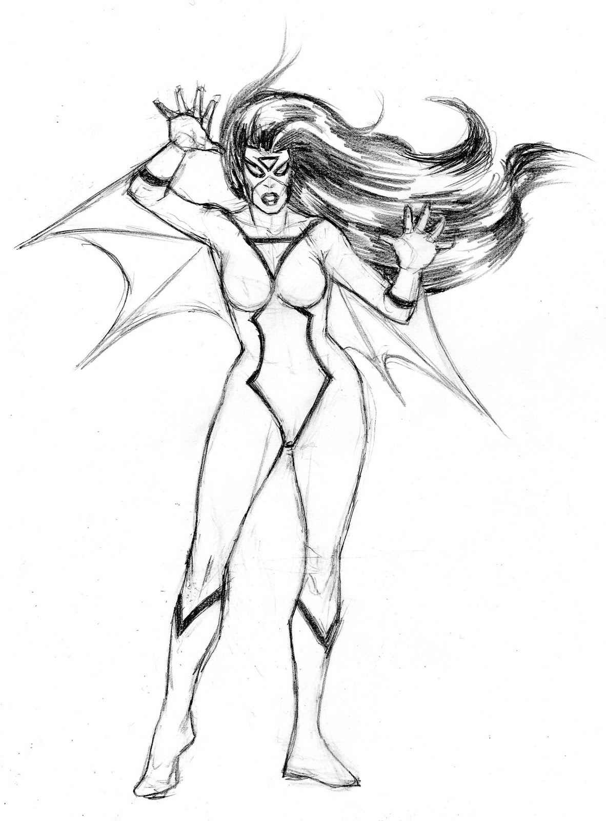 female superhero coloring pages 1