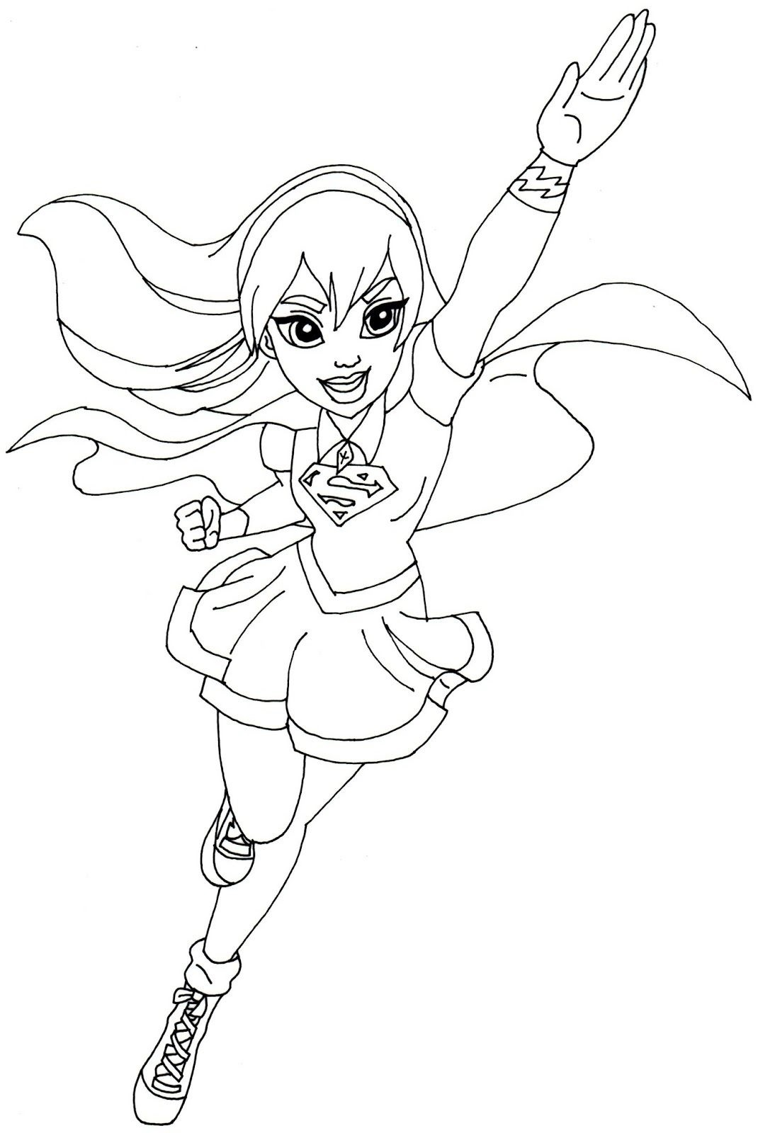 female superhero coloring pages 2